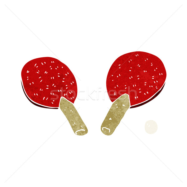 cartoon table tennis bats Stock photo © lineartestpilot