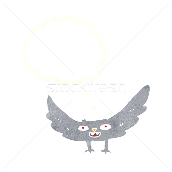 Cartoon вампир Bat мысли пузырь стороны Сток-фото © lineartestpilot