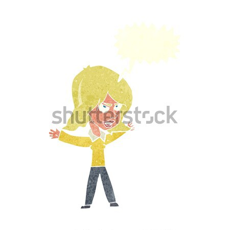 cartoon woman gesturing with thought bubble Stock photo © lineartestpilot