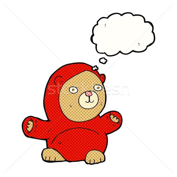 Karikatür oyuncak ayı düşünce balonu el dizayn sanat Stok fotoğraf © lineartestpilot