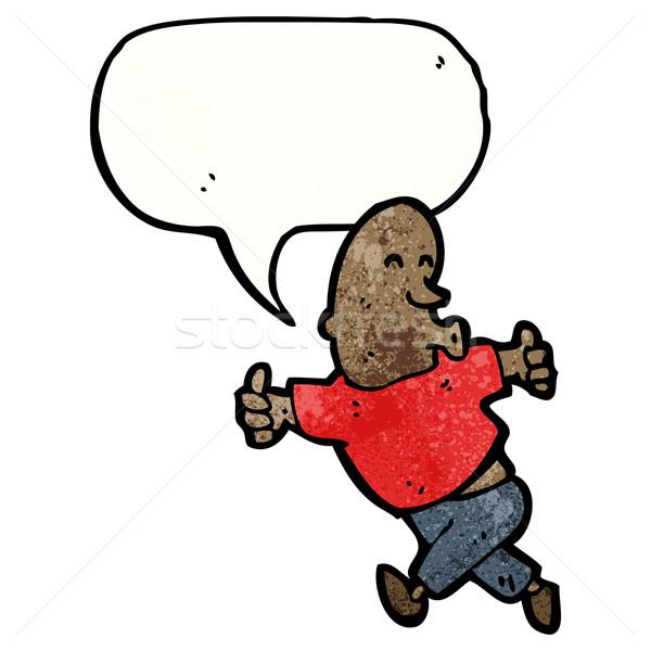enthusiastic man cartoon Stock photo © lineartestpilot