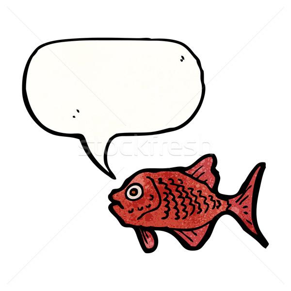 Cartoon красный рыбы ретро текстуры изолированный Сток-фото © lineartestpilot