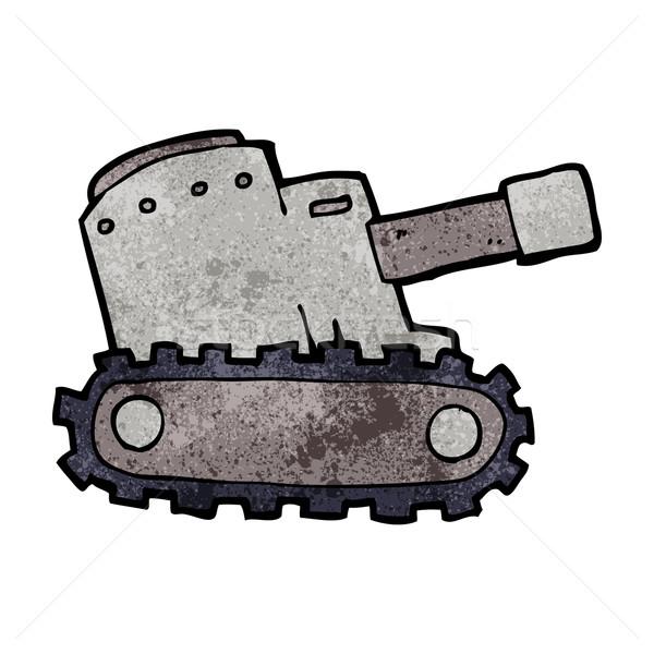 cartooon army tank Stock photo © lineartestpilot