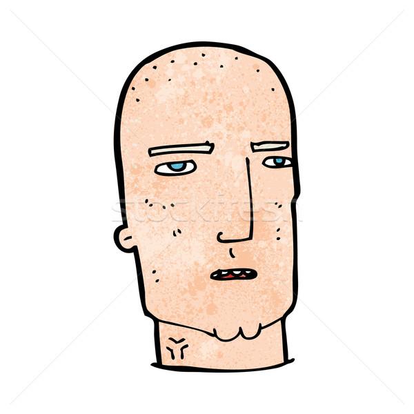 Desenho animado careca difícil cara homem projeto Foto stock © lineartestpilot