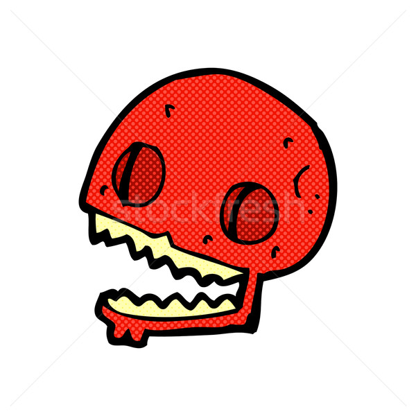 comic cartoon spooky skull Stock photo © lineartestpilot