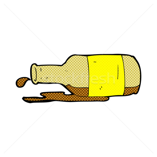 comic cartoon spilled beer Stock photo © lineartestpilot