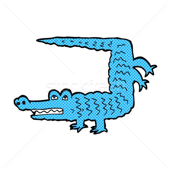 Cómico Cartoon cocodrilo retro estilo Foto stock © lineartestpilot
