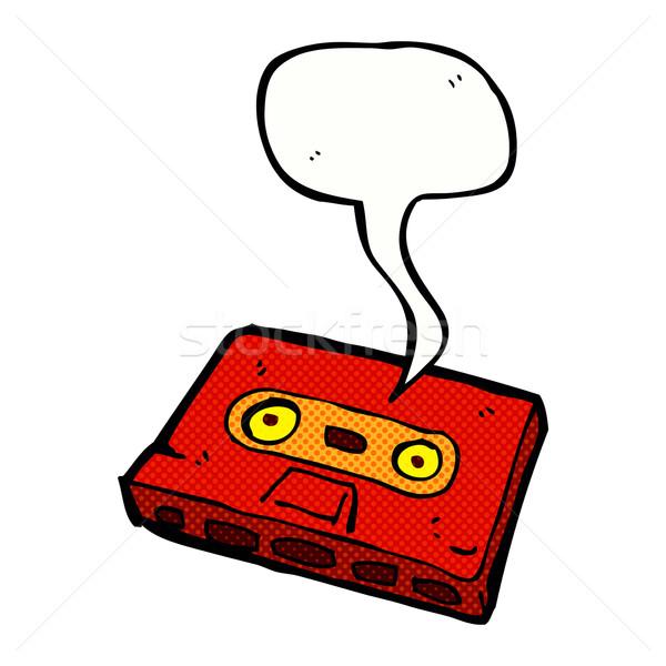 漫画 カセット テープ 吹き出し 手 デザイン ストックフォト © lineartestpilot
