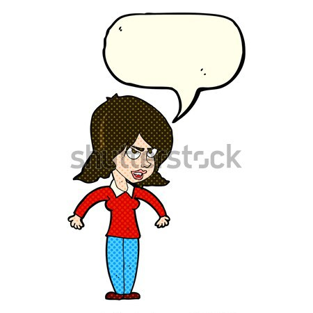 comic cartoon mean woman Stock photo © lineartestpilot
