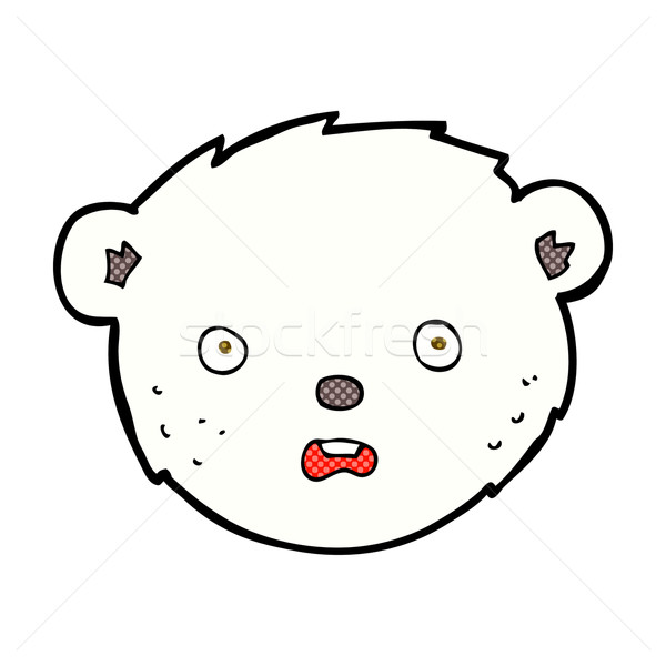 Cómico Cartoon oso polar cara retro Foto stock © lineartestpilot