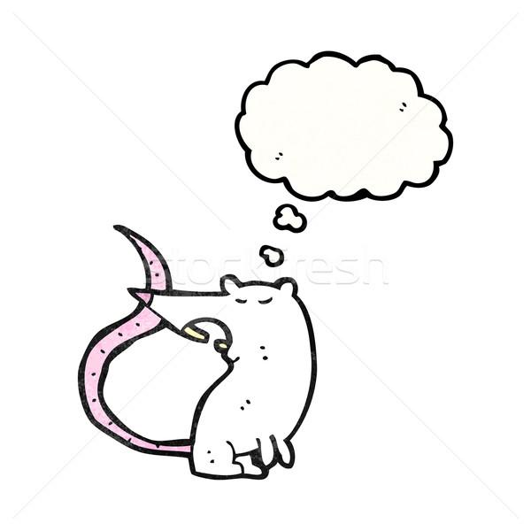 Karikatür sıçan doku el mutlu çizim Stok fotoğraf © lineartestpilot