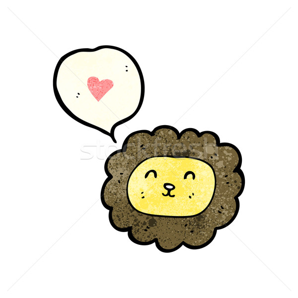 cartoon lion face (raster version) Stock photo © lineartestpilot