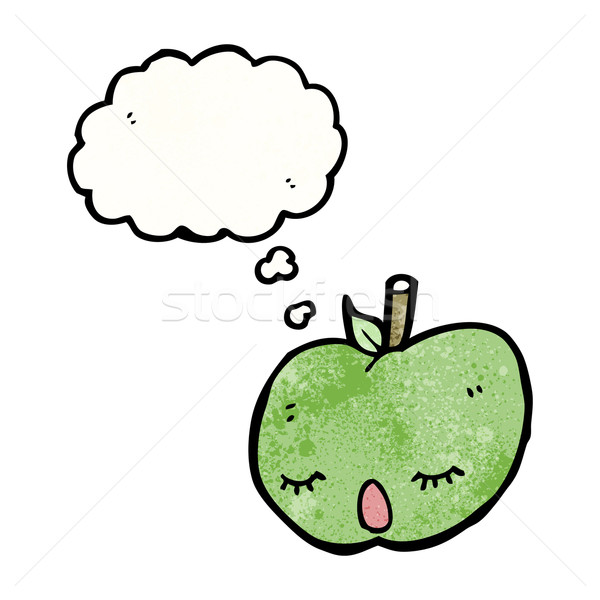 cute apple with though bubble Stock photo © lineartestpilot