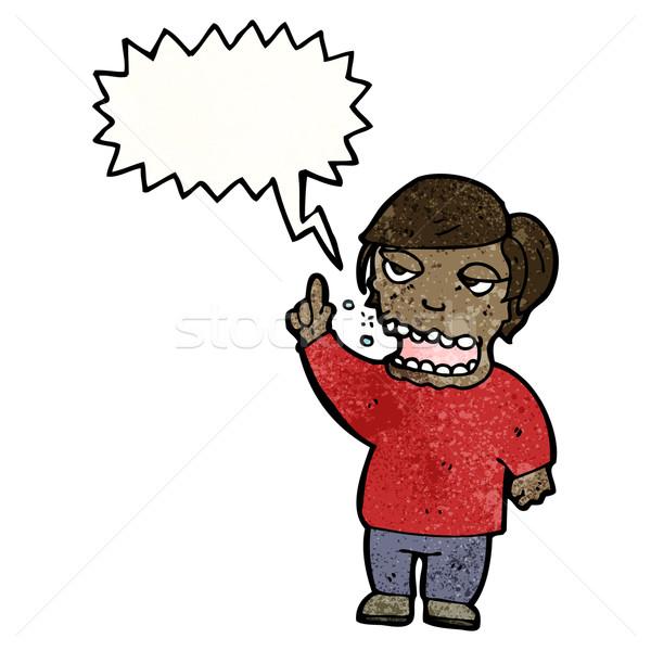 belching man cartoon Stock photo © lineartestpilot