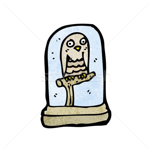 Desenho animado recheado coruja arte retro desenho Foto stock © lineartestpilot