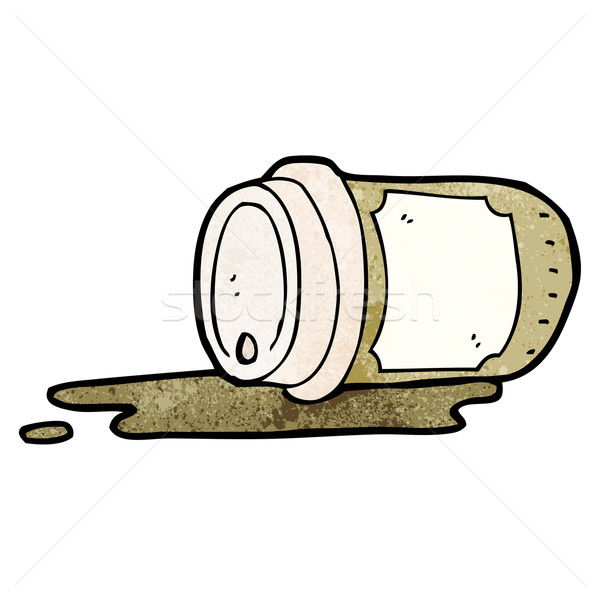 spilled take out coffee cartoon Stock photo © lineartestpilot