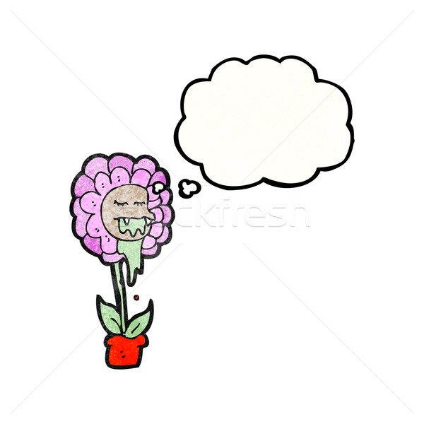 cartoon carnivorous flower Stock photo © lineartestpilot