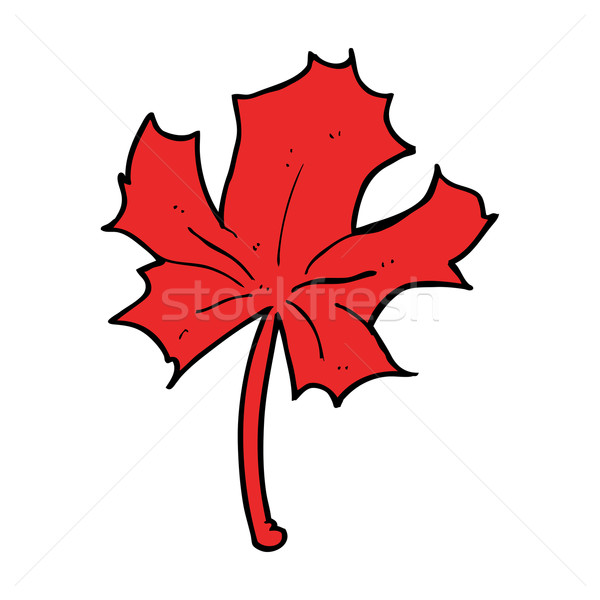 cartoon red maple leaf Stock photo © lineartestpilot