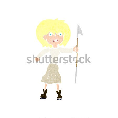 cartoon woman telling off Stock photo © lineartestpilot