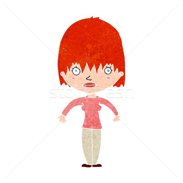 cartoon woman staring Stock photo © lineartestpilot