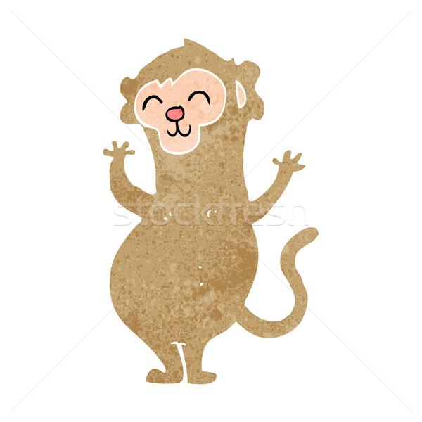 Cartoon małpa projektu sztuki zwierząt retro Zdjęcia stock © lineartestpilot