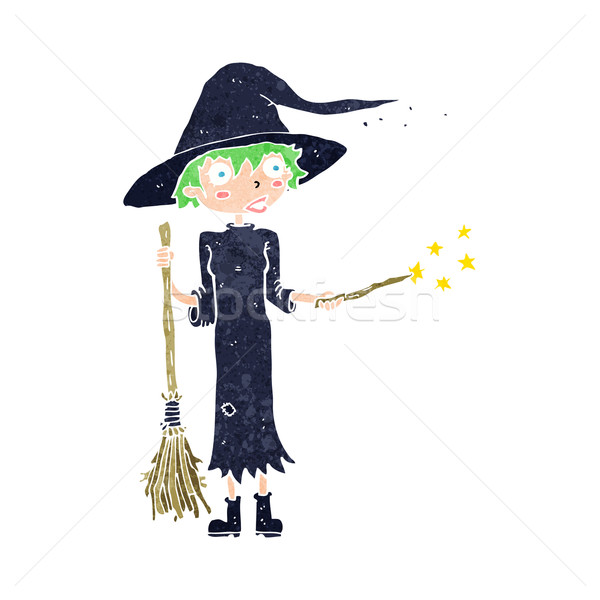 cartoon witch casting spell Stock photo © lineartestpilot