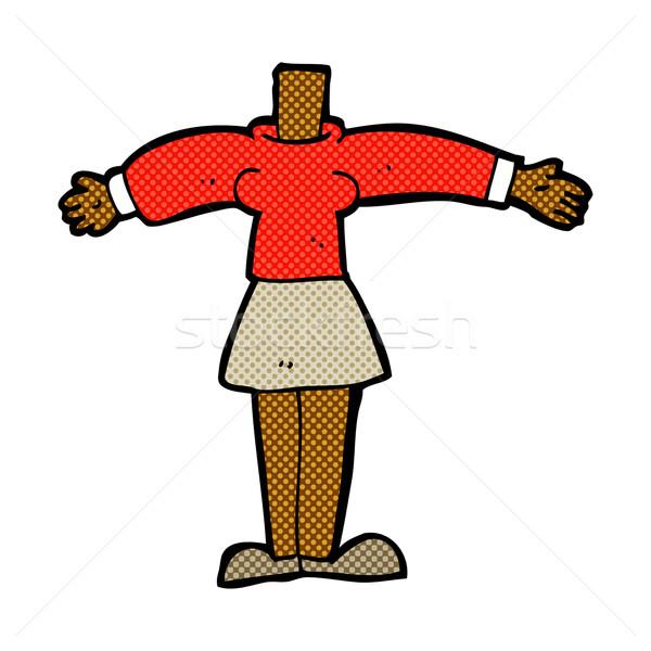 Cómico Cartoon femenino cuerpo fotos Foto stock © lineartestpilot