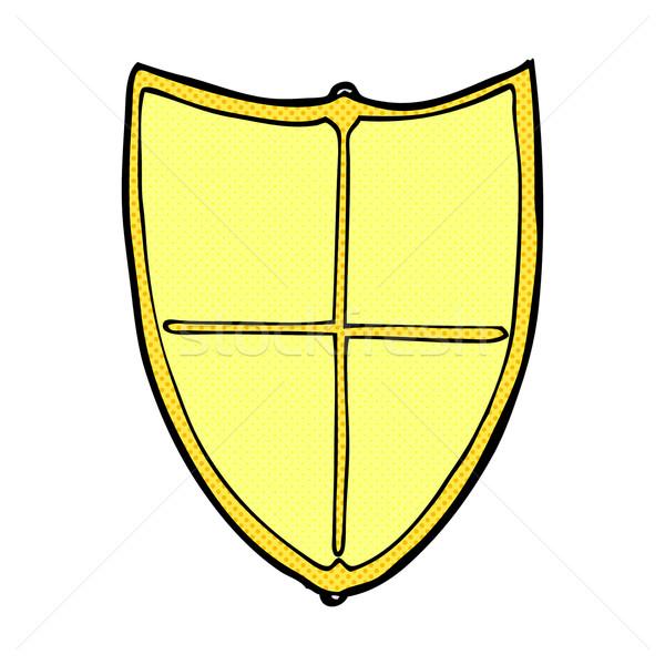comic cartoon heraldic shield Stock photo © lineartestpilot
