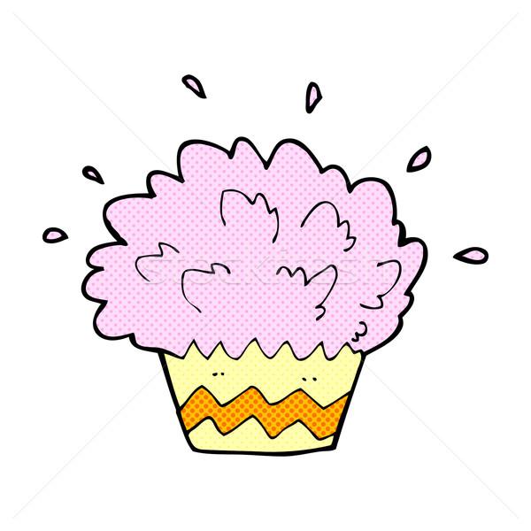 comic cartoon exploding cupcake Stock photo © lineartestpilot