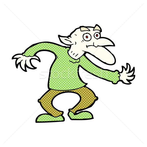 comic cartoon goblin Stock photo © lineartestpilot