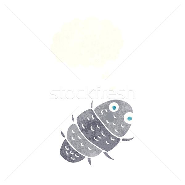 Desenho animado bicho balão de pensamento mão projeto arte Foto stock © lineartestpilot