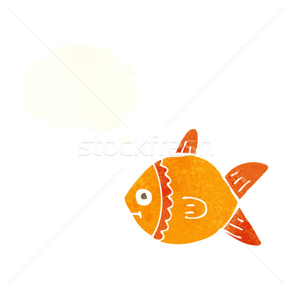 cartoon fish with thought bubble Stock photo © lineartestpilot
