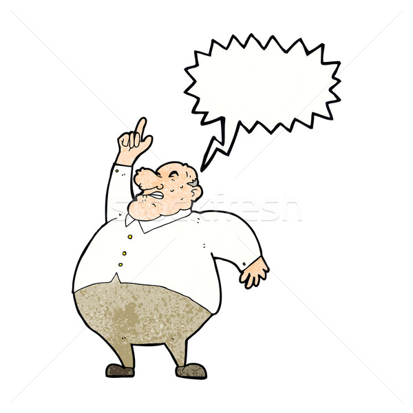 Stock fotó: Rajz · nagy · kövér · főnök · szövegbuborék · kéz