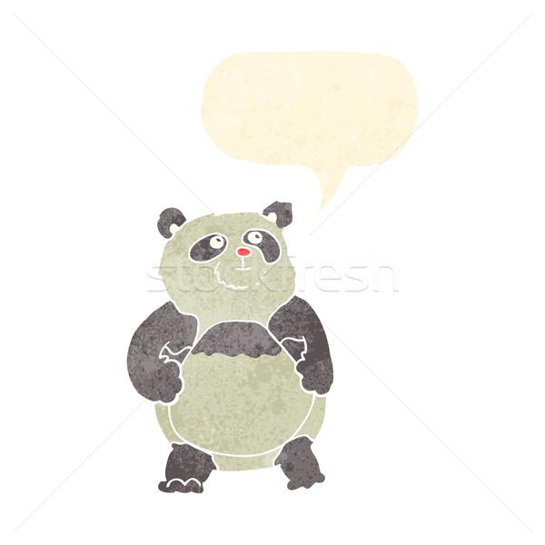 Cartoon panda dymka strony projektu sztuki Zdjęcia stock © lineartestpilot