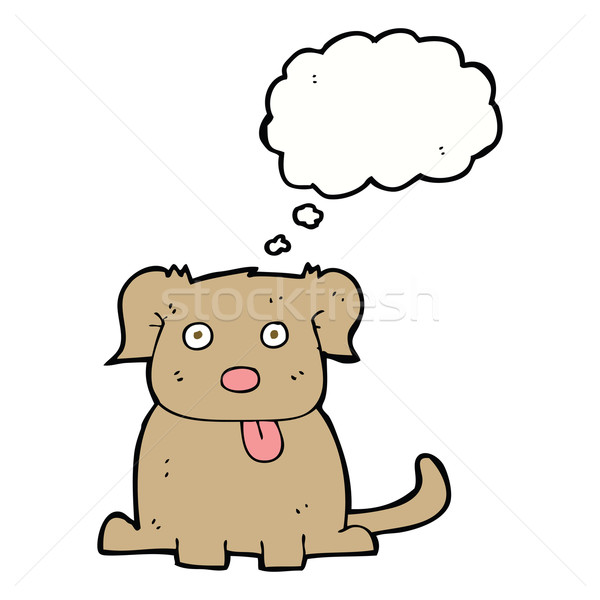 cartoon dog with thought bubble Stock photo © lineartestpilot