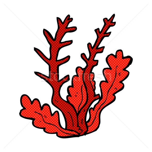 комического Cartoon морские водоросли ретро стиль Сток-фото © lineartestpilot