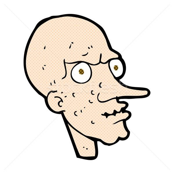 comic cartoon evil old man Stock photo © lineartestpilot