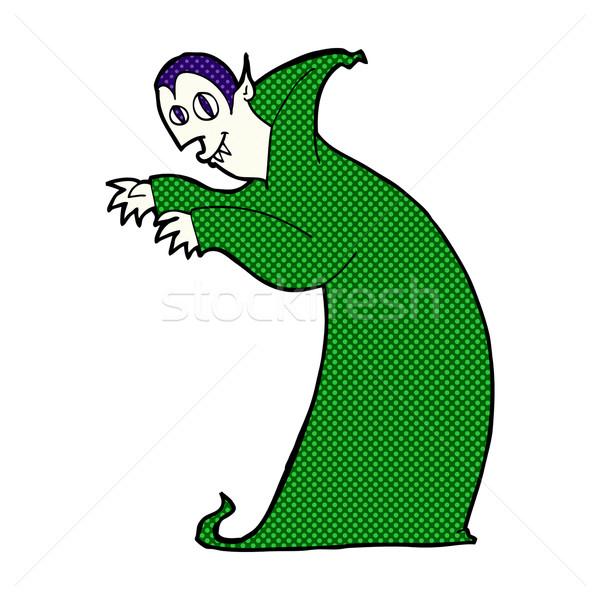 Komik karikatür vampir Retro Stok fotoğraf © lineartestpilot