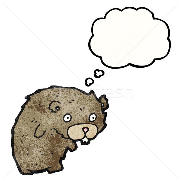 Stock photo: cartoon beaver