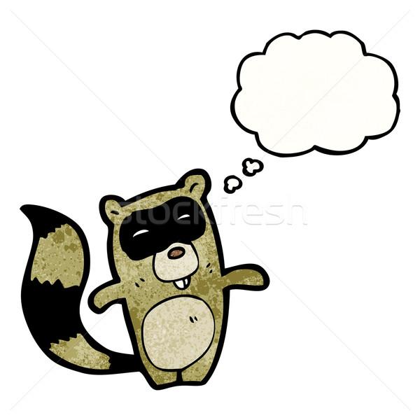 cartoon raccoon Stock photo © lineartestpilot