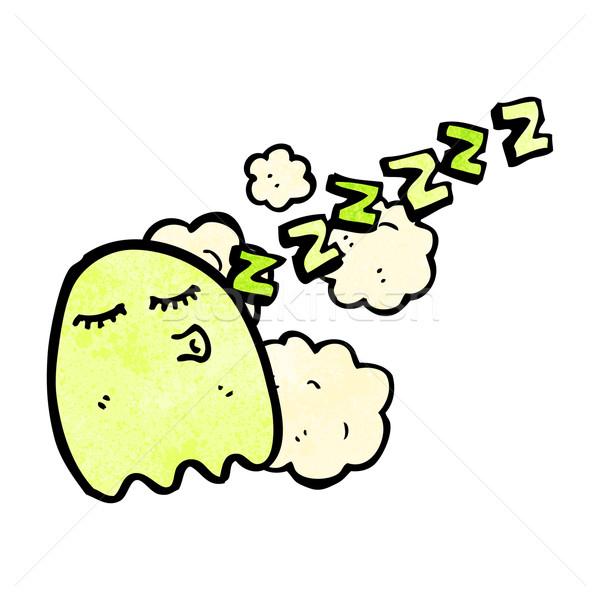 Assonnato fantasma cartoon parlando retro disegno Foto d'archivio © lineartestpilot