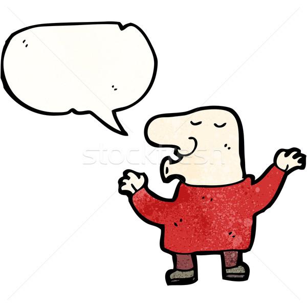 Cartoon curioso hombre retro dibujo masculina Foto stock © lineartestpilot