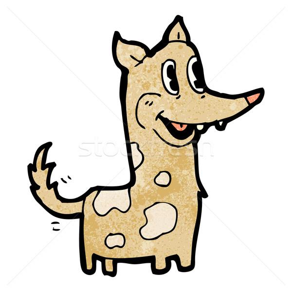 Feliz retro desenho animado cão cauda arte Foto stock © lineartestpilot