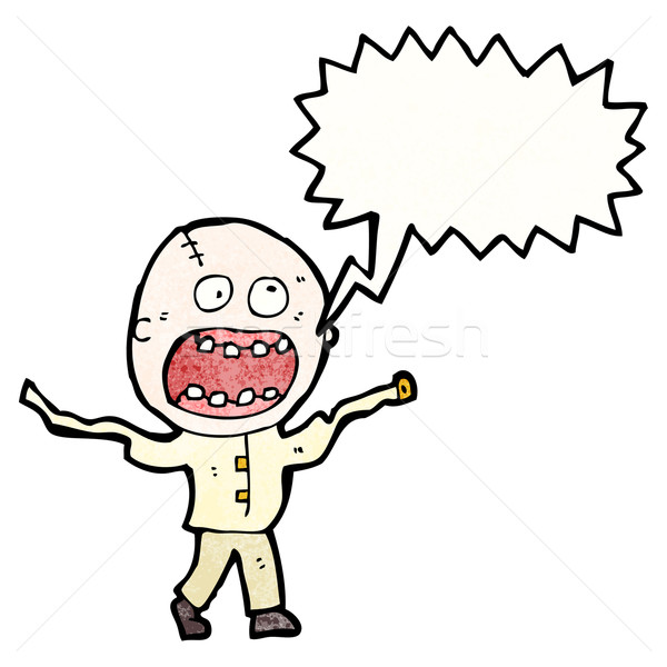 shouting mad man cartoon Stock photo © lineartestpilot