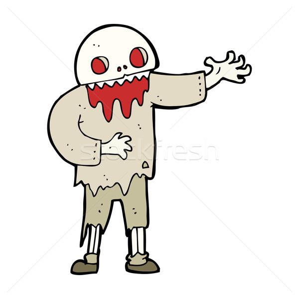cartoon spooky zombie Stock photo © lineartestpilot