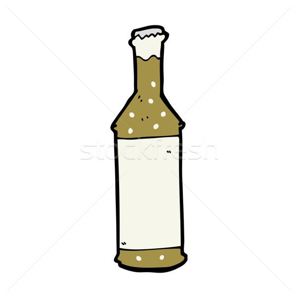 Cartoon bierfles hand bier ontwerp fles Stockfoto © lineartestpilot