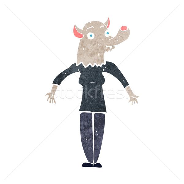 cartoon werewolf woman Stock photo © lineartestpilot
