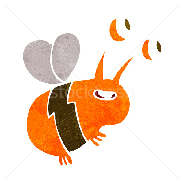 cartoon happy bee Stock photo © lineartestpilot