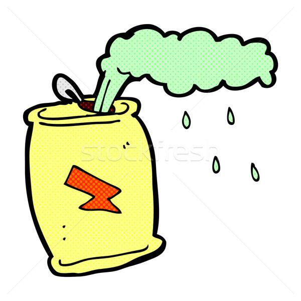 comic cartoon fizzing soda can Stock photo © lineartestpilot