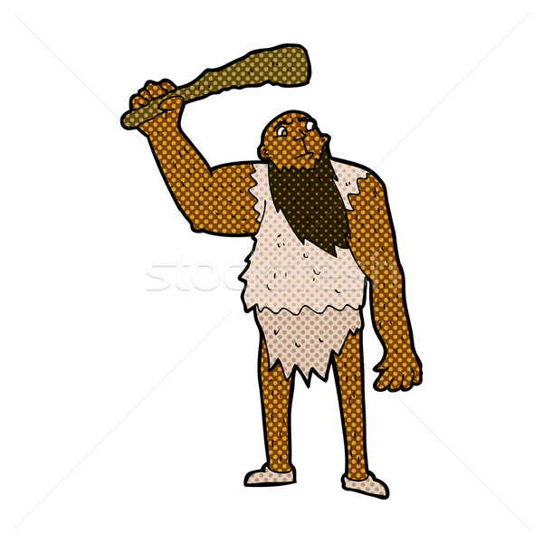 comic cartoon neanderthal Stock photo © lineartestpilot